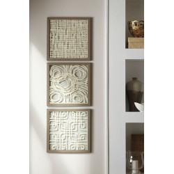 Odella - Cream/Taupe - Wall Decor Set (3/CN)