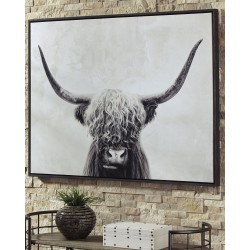 Pancho - Black/White - Wall Art