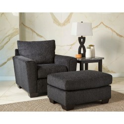 Wixon - Slate - Chair with Ottoman