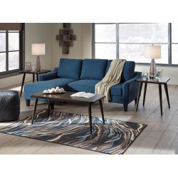 Jarreau - Blue - Queen Sofa Sleeper & Fazani Table Set