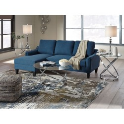 Jarreau - Blue - Queen Sofa Sleeper & Hollynyx Table Set