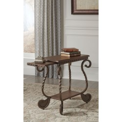 Rafferty - Dark Brown - Chair Side End Table