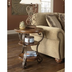 Nestor - Medium Brown - Chair Side End Table