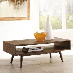 Kisper - Dark Brown - Rectangular Cocktail Table