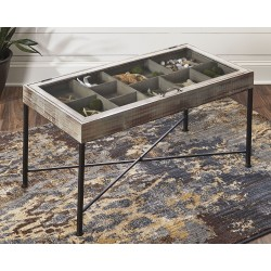 Shellmond - Antique Gray/Black - Accent Cocktail Table