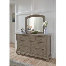 Lettner - Light Gray - Dresser