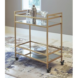 Kailman - Gold Finish - Bar Cart