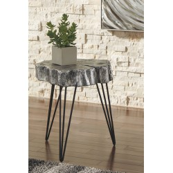 Dellman - Antique Silver Finish - Accent Table