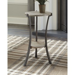 Enderton - White Wash/Pewter - Accent Table