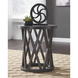 Sharzane - Grayish Brown - Round End Table