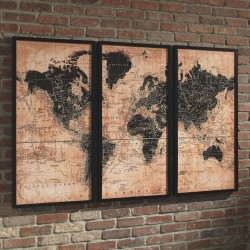 Pollyanna - Tan/Black - Wall Art Set (3/CN)