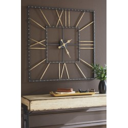 Thames - Black/Gold Finish - Wall Clock