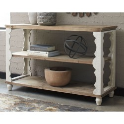 Alwyndale - Antique White/Brown - Console Sofa Table