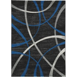 Jenue - Black/Gray/Blue - Medium Rug