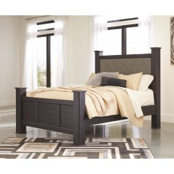 Reylow - Dark Brown - Queen UPH Poster Bed