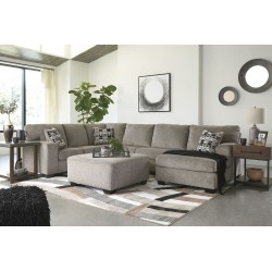Ballinasloe - Platinum - LAF Sofa, Armless Loveseat, RAF Corner Chaise Sectional & Accent Ottoman