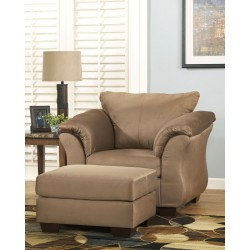 Darcy - Mocha - Chair with Ottoman