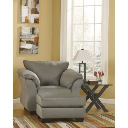 Darcy - Cobblestone - Chair with Ottoman
