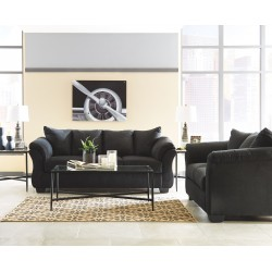 Darcy - Black - Sofa, Loveseat & Augeron Table Set