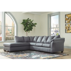 Darcy - Steel - LAF Corner Chaise & RAF Sofa Sectional