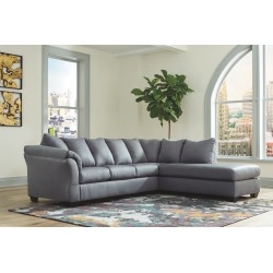 Darcy - Steel - LAF Sofa & RAF Corner Chaise Sectional