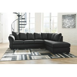Darcy - Black - LAF Sofa & RAF Corner Chaise Sectional