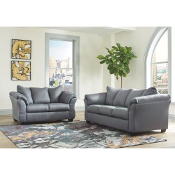 Darcy - Steel - Sofa & Loveseat