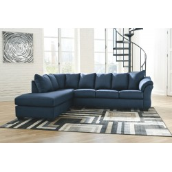Darcy - Blue - LAF Corner Chaise & RAF Sofa Sectional
