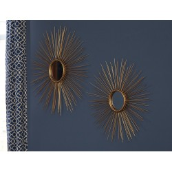 Doniel - Antique Gold Finish - Accent Mirror Set (2/CN)