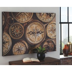 Jeaselle - Brown/Black - Wall Art