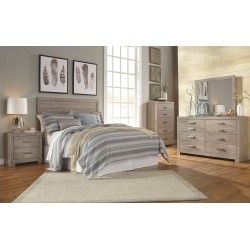 Culverbach - Gray - 3 Pc. - Dresser, Mirror & Queen Panel Headboard