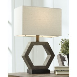 Marilu - Gray/Brown - Poly Table Lamp (1/CN)