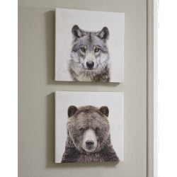 Albert - Gray/Brown - Wall Art Set (2/CN)