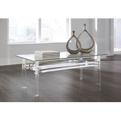 Braddoni - Chrome Finish - Rectangular Cocktail Table