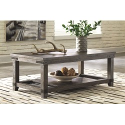 Danell Ridge - Brown - Rectangular Cocktail Table