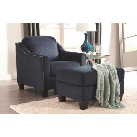 Creeal Heights - Ink - Chair with Ottoman