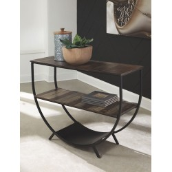 Lamoney - Gray/White/Brown - Console Sofa Table