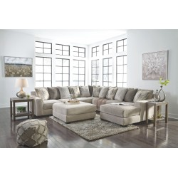 Ardsley - Pewter - LAF Sofa, Wedge, Armless Loveseat, RAF Corner Chaise Sectional & Accent Ottoman