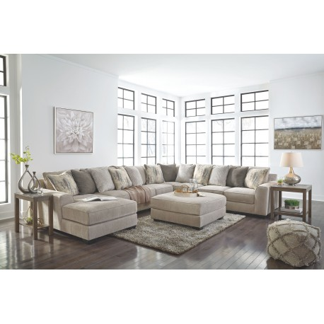 Ardsley - Pewter - LAF Corner Chaise, Armless Loveseat, Armless Chair, Wedge, RAF Sofa Sectional & Accent Ottoman