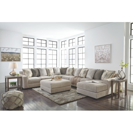 Ardsley - Pewter - LAF Sofa, Wedge, Armless Chair, Armless Loveseat, RAF Corner Chaise Sectional & Accent Ottoman