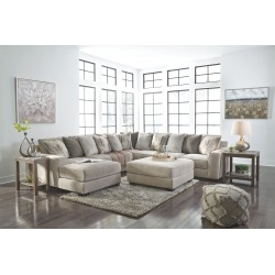 Ardsley - Pewter - LAF Corner Chaise, Armless Loveseat, Wedge, RAF Sofa Sectional & Accent Ottoman
