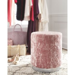 Lancer - Blush Pink - Accent Ottoman