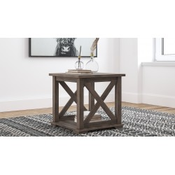 Arlenbry - Gray - Square End Table