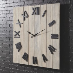 Bronson - Whitewash/Black - Wall Clock
