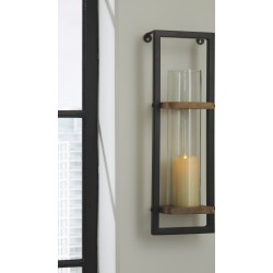 Colburn - Natural/Black - Wall Sconce