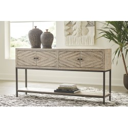 Roanley - Distressed White - Console Sofa Table