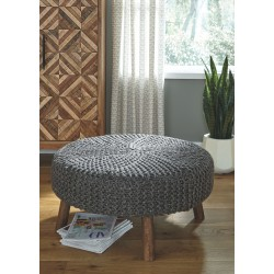 Jassmyn - Charcoal - Oversized Accent Ottoman