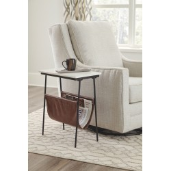 Etanbury - Brown/Black/White - Accent Table