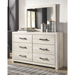 Cambeck - Whitewash - Dresser & Mirror