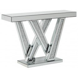 Gillrock - Mirror/Silver Finish - Console Table